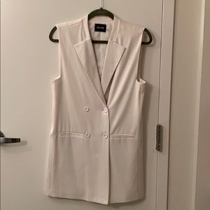 Do+Be white tuxedo dress